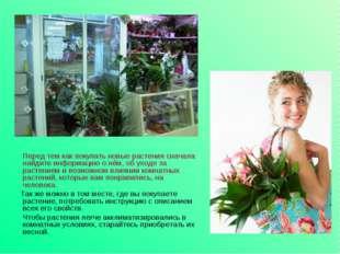 Перед тем как покупать новые растения сначала найдите информацию о нём, об у