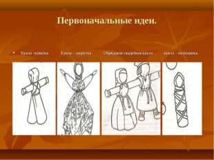 Первоначальные идеи. Кукла –куватка Кукла – закрутка Обрядовая свадебная кукл