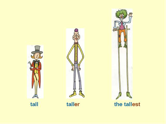 tall taller the tallest