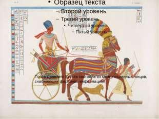 Почта Древнего Египта состояла измногочисленных гонцов, снабжающих фараонов
