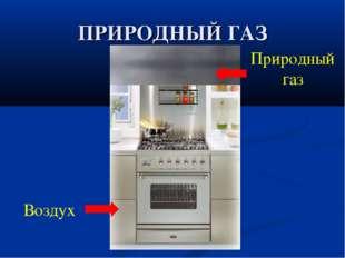 ПРИРОДНЫЙ ГАЗ Воздух Природный газ