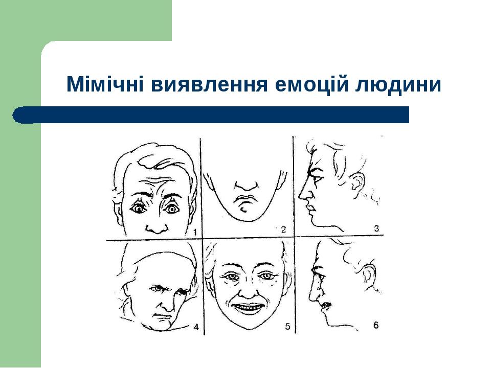 Мімічні виявлення емоцій людини