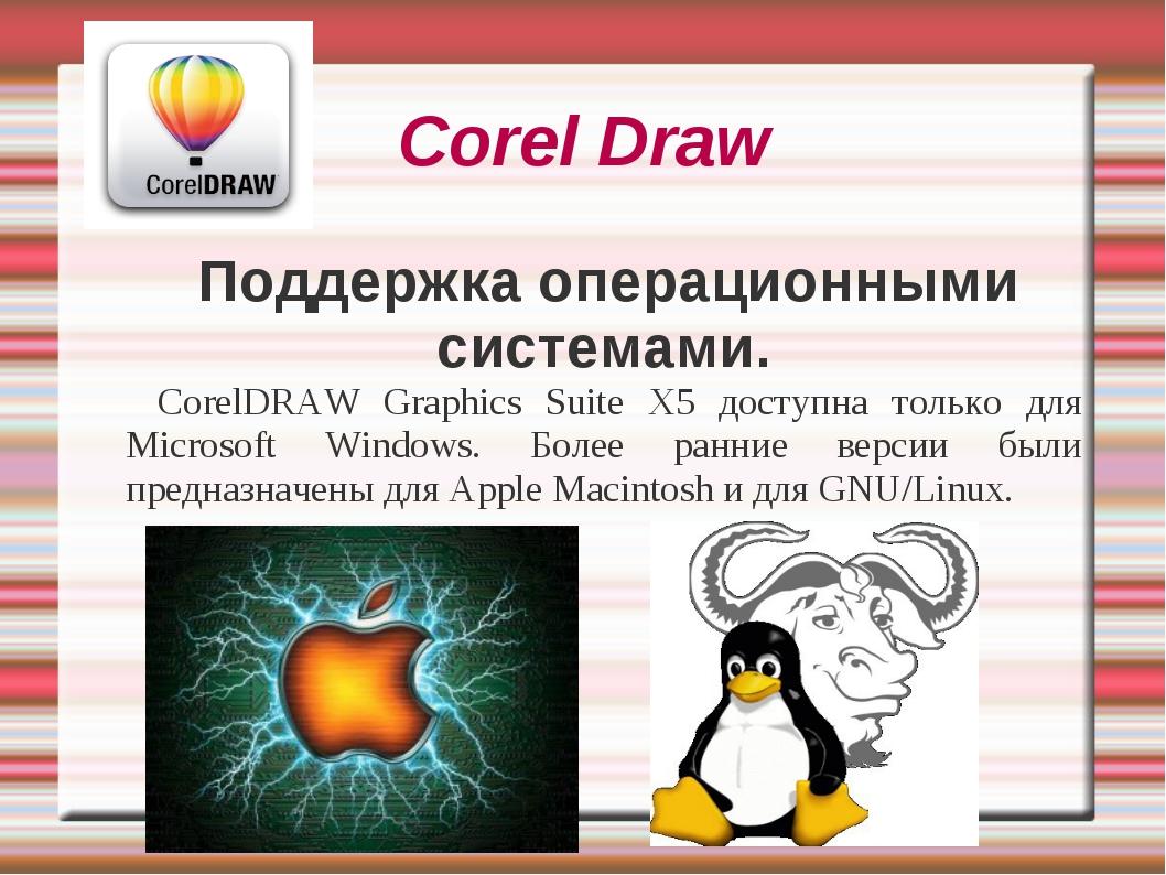 Corel Draw Поддержка операционными системами. CorelDRAW Graphics Suite X5 дос...