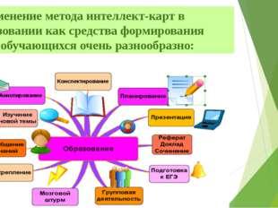 Применение метода интеллект-карт в образовании как средства формирования УУД