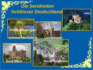 Die berühmten Schlösser Deutschlands Hohenschwangau Schloss Moritzburg Lichte