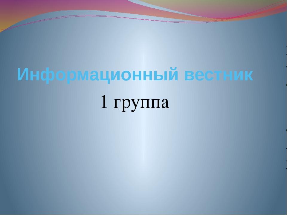 Информационный вестник 1 группа
