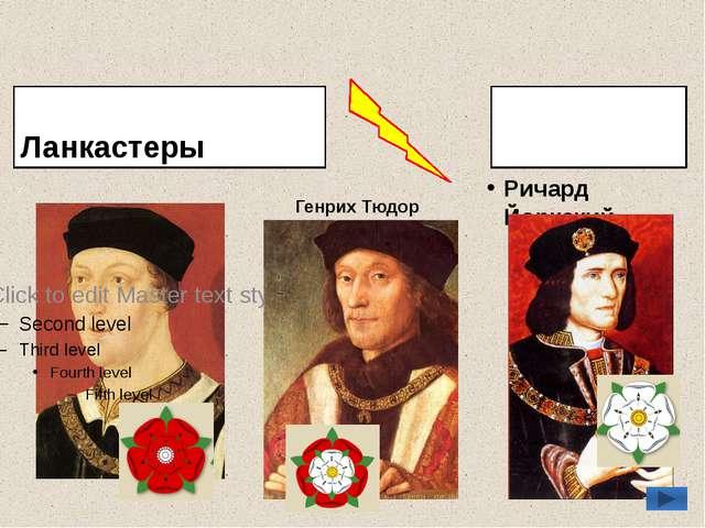 Ланкастеры Генрих VI Йорки Ричард Йоркский Генрих Тюдор