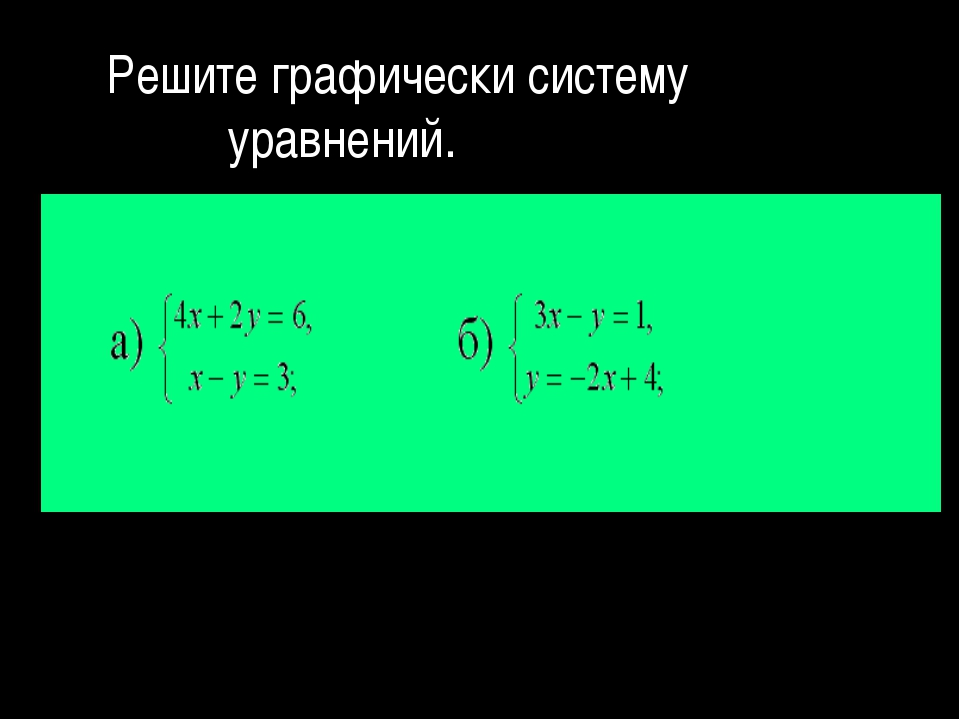 Решите графически систему уравнений.