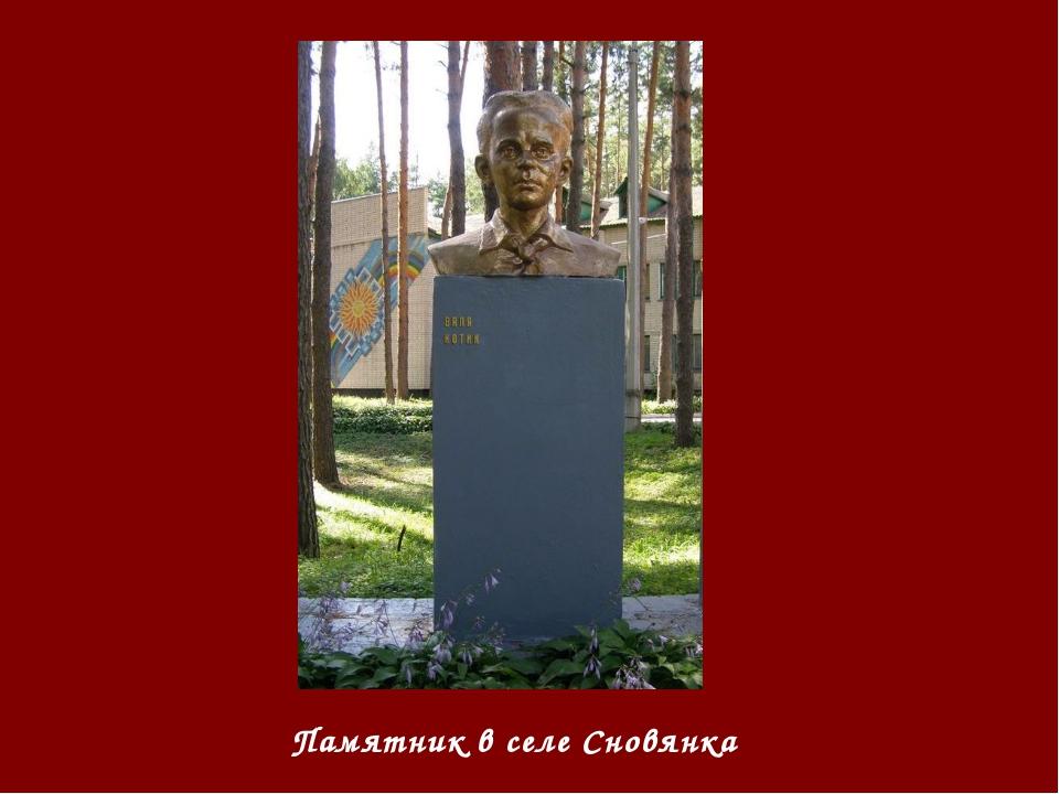 Памятник в селе Сновянка