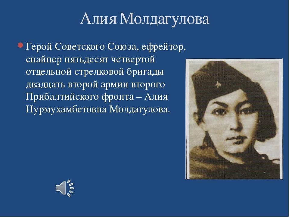 Герой Советского Союза, ефрейтор, снайпер пятьдесят четвертой отдельной стрел...