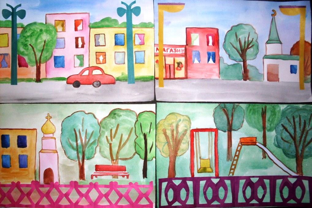 Урок рисования в 3 классе