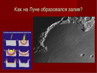Как на Луне образовался залив?