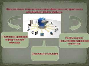 Педагогические технологии на основе эффективности управления и организации уч
