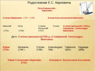 Родословная Е.С. Карновича Петр Бернштейн - Карнович  Степан Ефимович 170