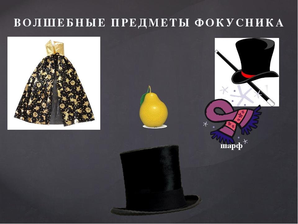 ВОЛШЕБНЫЕ ПРЕДМЕТЫ ФОКУСНИКА шарф