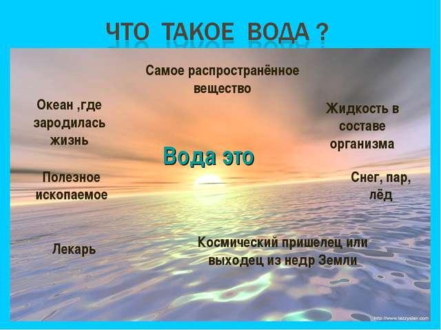 Вода это Космический пришелец или выходец из недр Земли Океан ,где зародилась...