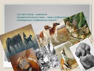 От лат.Animal - животное Анималистический жанр – жанр изобразительного искус