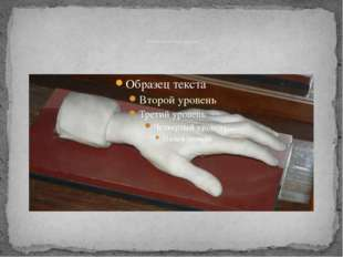 Левая кисть Листа из мрамора