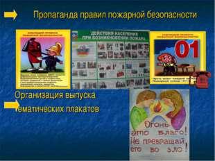 Пропаганда правил пожарной безопасности Организация выпуска тематических плак