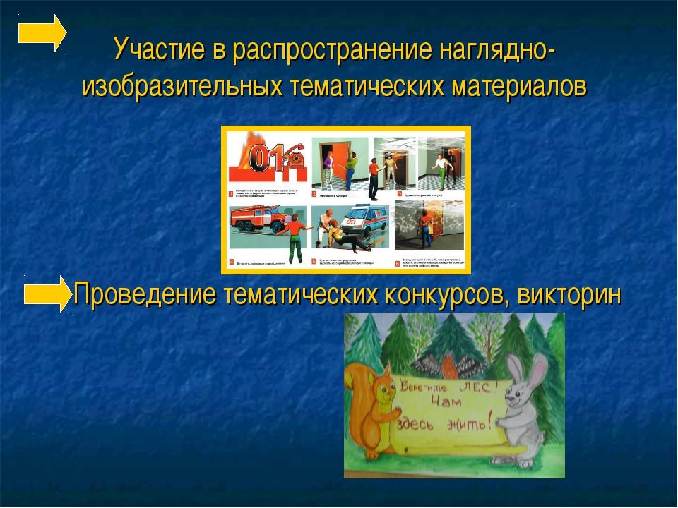 Участие в распространение наглядно-изобразительных тематических материалов Пр...