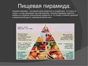 Пищевая пирамида: Пищевая пирамида - наглядный набор продуктов на каждый ден