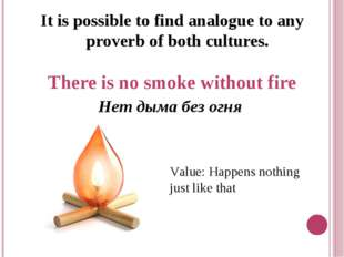 It is possible to find analogue to any proverb of both cultures. There is no