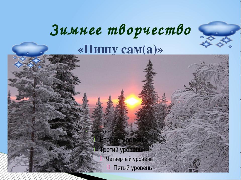 Зимнее творчество «Пишу сам(а)»