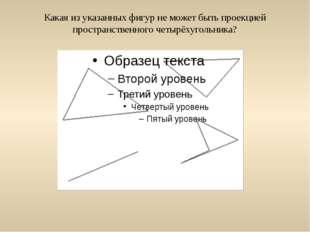 Какая из указанных фигур не может быть проекцией пространственного четырёхуго