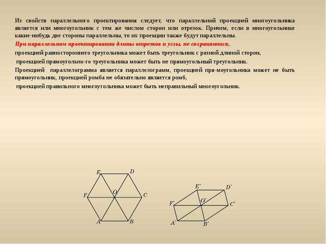Из свойств параллельного проектирования следует, что параллельной проекцией м...