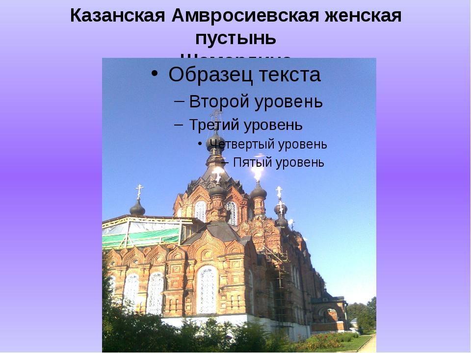 Казанская Амвросиевская женская пустынь Шамордино
