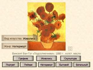 Винсент Ван Гог «Подсолнечники», 1890 г., холст, масло Живопись Скульптура Гр