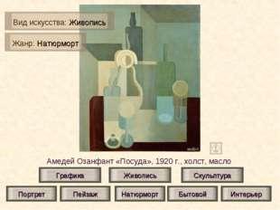 Амедей Озанфант «Посуда», 1920 г., холст, масло Живопись Скульптура Графика П