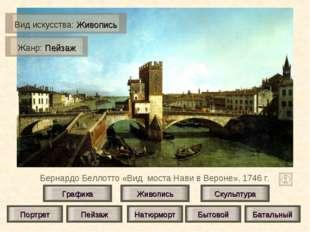 Бернардо Беллотто «Вид моста Нави в Вероне», 1746 г. Живопись Скульптура Граф