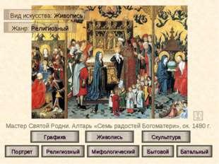 Мастер Святой Родни. Алтарь «Семь радостей Богоматери», ок. 1480 г. Живопись