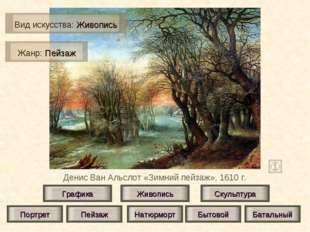 Денис Ван Альслот «Зимний пейзаж», 1610 г. Живопись Скульптура Графика Портре
