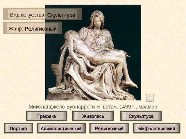 Микеланджело Буонарроти «Пьета», 1499 г., мрамор Живопись Скульптура Графика...