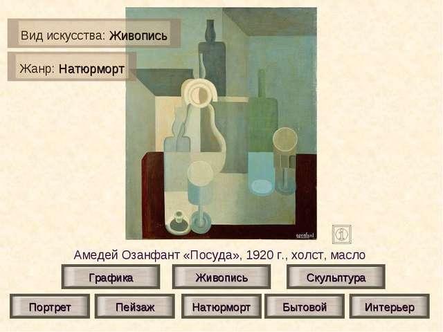 Амедей Озанфант «Посуда», 1920 г., холст, масло Живопись Скульптура Графика П...