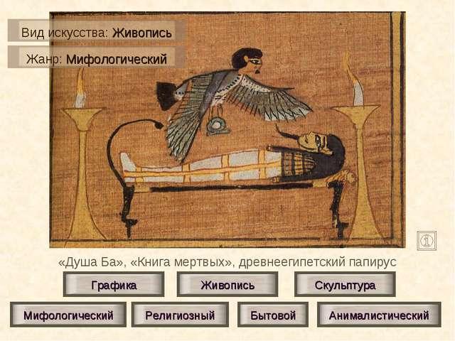 «Душа Ба», «Книга мертвых», древнеегипетский папирус Живопись Скульптура Граф...