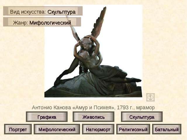 Антонио Канова «Амур и Психея», 1793 г., мрамор Живопись Скульптура Графика П...