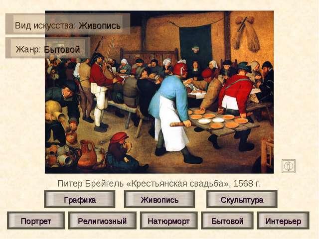 Питер Брейгель «Крестьянская свадьба», 1568 г. Живопись Скульптура Графика По...