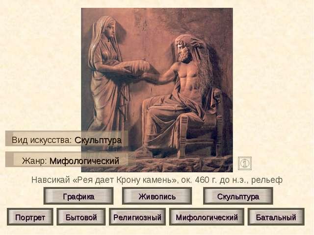 Навсикай «Рея дает Крону камень», ок. 460 г. до н.э., рельеф Живопись Скульпт...