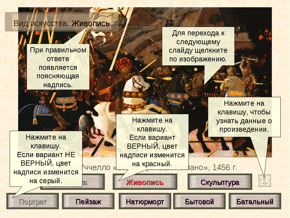 Паоло Уччелло «Битва при Сан Романо», 1456 г. Живопись Скульптура Графика Пор...