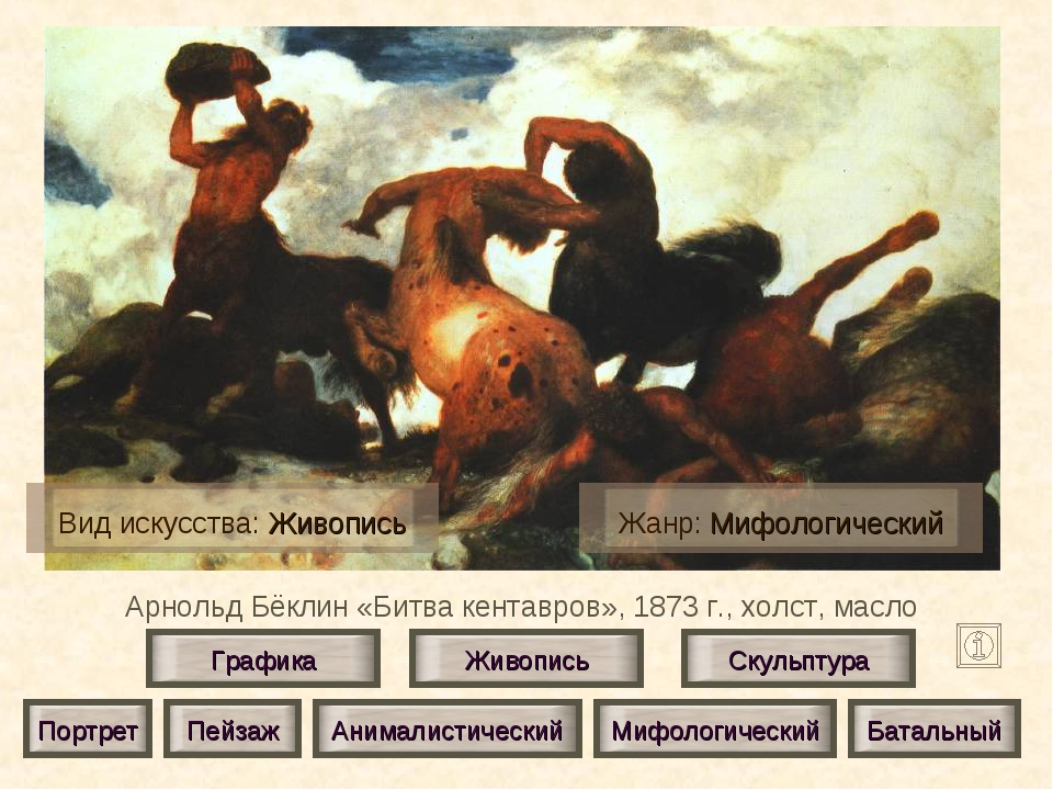 Арнольд Бёклин «Битва кентавров», 1873 г., холст, масло Живопись Скульптура Г...