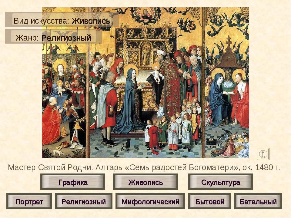 Мастер Святой Родни. Алтарь «Семь радостей Богоматери», ок. 1480 г. Живопись...