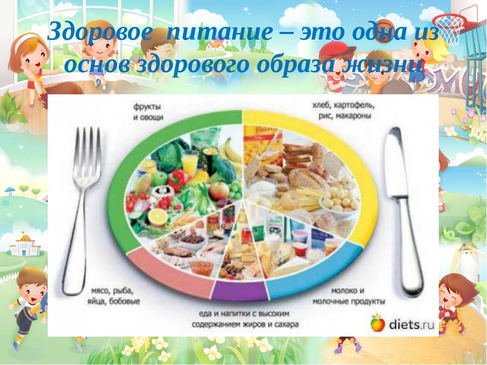 Здоровое питание – это одна из основ здорового образа жизни