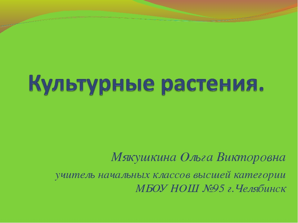 Мякушкина Ольга Викторовна учитель начальных классов высшей категории МБОУ НО...