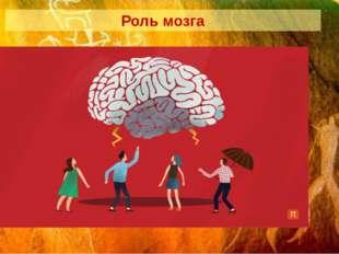 Роль мозга превращение звуков в речь; обработка информации о цвете; распознав