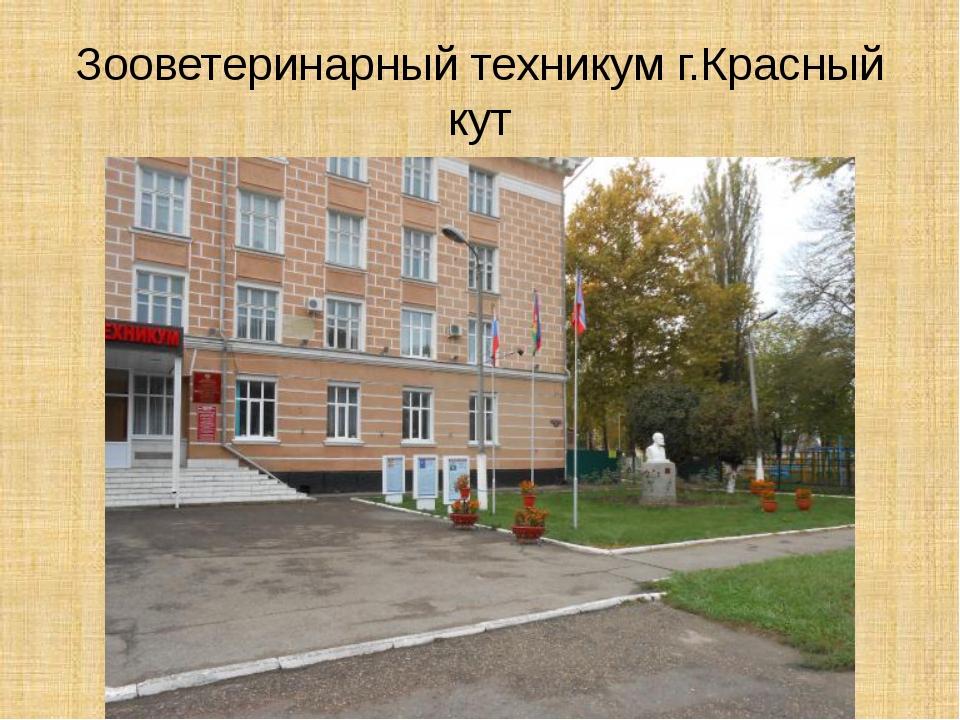 Зооветеринарный техникум г.Красный кут