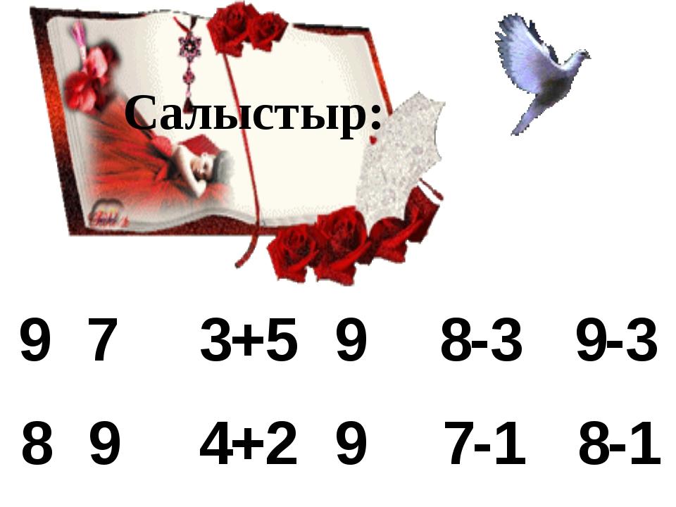 97 89 3+59 4+29 8-39-3 7-18-1 Салыстыр: