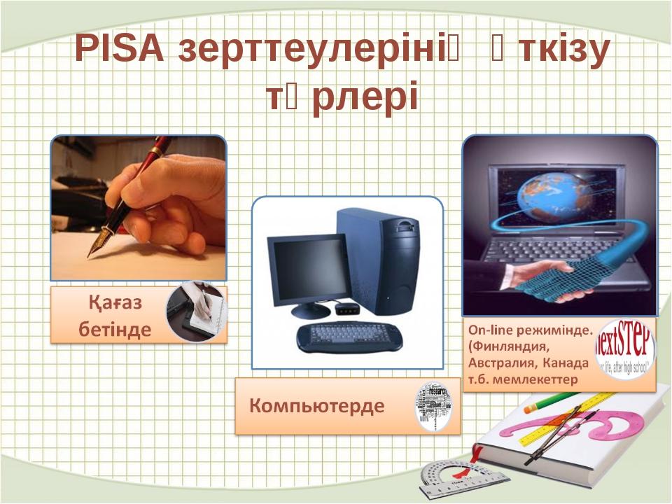 PISA зерттеулерінің өткізу түрлері